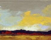 MINI 1654, 0il painting original landscape, miniature art, 100% charity donation, oil painting on cardboard