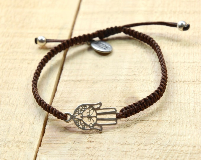 Unisex Hamsa Bracelet for Good Luck and Protection