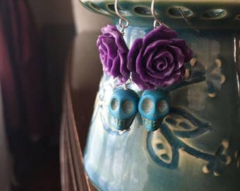 Dia De Los Muertos Calavera Earrings, Day Of The Dead, Ready to Ship...free shipping