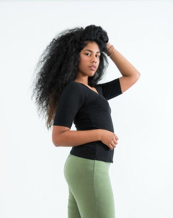 Black // Perfect Tee // Hemp and Organic Cotton Knit // Eco Fashion