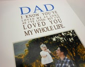 Dad I know you've loved me Photo Mat Design M120