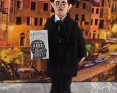 Fernando Pessoa Poet Doll Miniature Portugese Poetry Art Character
