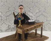 James Joyce Doll Miniature Diorama Scene Art Author and Writer of Ulysses