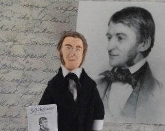 Ralph Waldo Emerson Author Doll Mini Sized Classic Literature Art Collectible