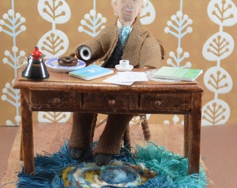 Carl Jung Psychologist Art Doll Diorama Set Study of Human Behavior Science Geek Gift Psychology