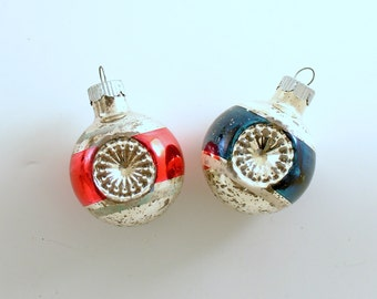 Vintage Christmas Glass Ornaments Shiny Brite Indents Reflectors
