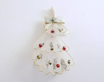 Vintage Christmas Tree Glass Beads Christmas Ornament