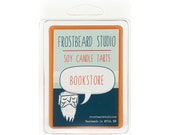 Bookstore - Book Candle Tart -  Book Lover Gift - Scented Soy Candle Melt - Frostbeard Studio - 8oz jar