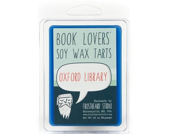 Oxford Library - Book Candle Tart - Book Lover Gift - Scented Soy Candle Melt - Frostbeard Studio - 3oz Pack