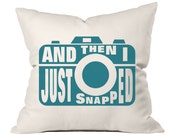 Camera pillow, accent pillow, throw pillow cover, photographer gift, Christmas gift