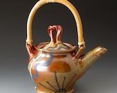 Teapot with Cane Handle, Desert Colors, Handmade Ceramic Teapot, Teapots
