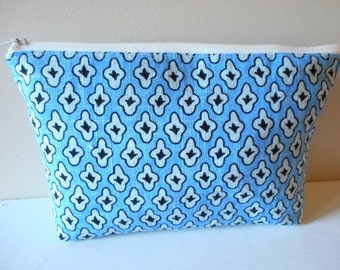 cosmetic zip bag blue raspberry toiletry pouch
