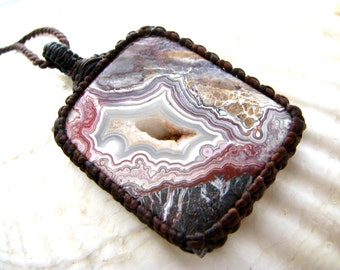Crazy Lace Agate pendant necklace, Crazy lace Druzy,  Agate Jewelry, Funky Jewelry, Unique Gift, Healing stone , Metaphysical / trending