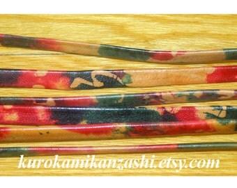 Colourful Ink Blots - Vintage Japanese Obijime Cord Tie Belt Sash Kimono Obi Women