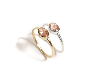 14k Sunstone Ring | 14k Gold and Sunstone Ring