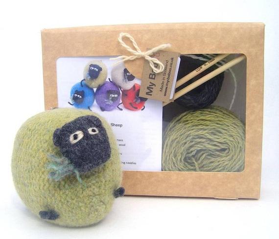 Knitting Kits Uk : Sheep knitting kit pure wool uk shop from scotland