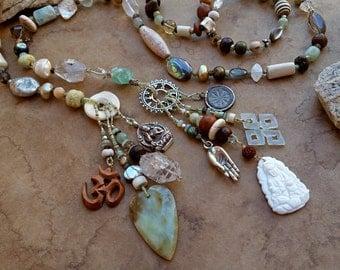 Tara + Kwan Yin Spirit Beads + Meditation and Prayer + Buddhist Symbols + Peace and Tranquility + Centering + Divine Feminine