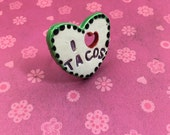 I HEART TACOS Ceramic Ring