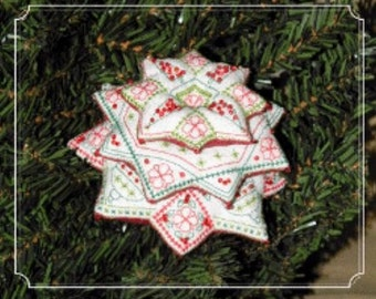 Cross Stitch Pattern, Xmas Tree of Stars - Blackwork Counted Cross Stitch Pattern by Brodeuse Bressane DD, Easter Pattern