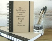 25% Off Sale! Personalized Journal, Notebook, Personalized Friend Gift, Boyfriend Gift, Gift for Women, Gift for Men, Birthday Gift, Bril...