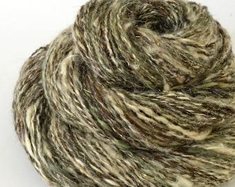 Handspun Yarn - Silk Alpaca and Merino Yarn - Art Yarn- 2.3oz, 152yd, 13WPI