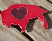Red Buffalo Heart