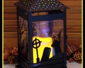 CUSTOM ORDER for T R only........2 Hand Painted Halloween Lanterns.