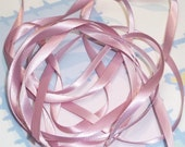QUARTZ DouBLe FaCeD SaTiN RiBBoN, Polyester 1/4 inch wide, 5 Yards