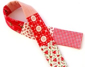 Red Patchwork Camera Strap Cover