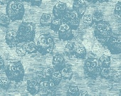 30% OFF Wonderland Owly Blue  - 1/2 Yard