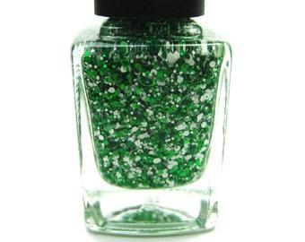 SALE!! Go Green// Handmade Glitter Nail Polish// Ohio University//NY Jets//Cruelty Free//Vegan