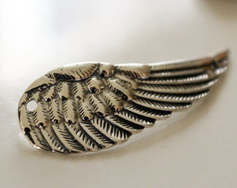 Large Wing Link Sterling Silver