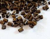 400 Bronze Crimp Beads Antique Plated Brass NF 1.5x1mm Economy Grade - 4 grams - F4021CB-AB200