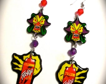 Marvelous Missing Link Found Earrings Faygo Insane Clown Posse ICP