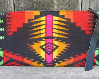 Solar Fire Pyramid Wool Clutch