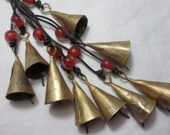 1 Bunch of Caravan Bells with Glass Beads Chimes Wind Chime Bell Wind Chime Sleigh Bells