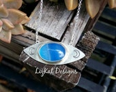 RESERVED FOR LARA - Agate Moon Phase Eye Pendant in Sterling Silver