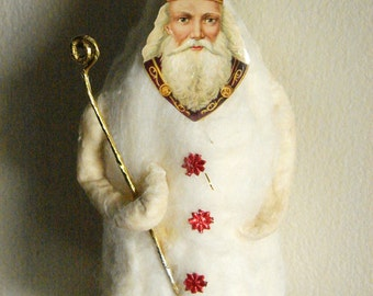 St. Nicholas Spun Cotton Santa Claus