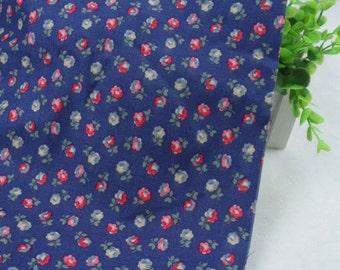 4098 - Cath Kidston Elgin Ditsy (Dark Blue) Cotton Canvas Fabric - 57 Inch (Width) x 1/2 Yard (Length)