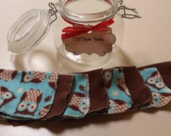 DIY Dryer Sheets Jar Owl