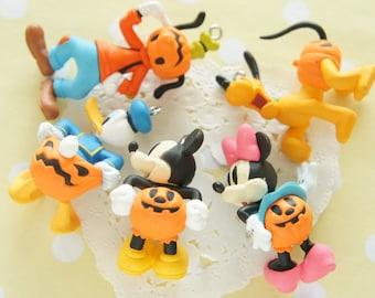 5 pcs Disney Characters in Halloween Jack-o'-Lantern Pants Charm AZ180