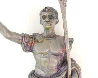 Rare Miniature Figure for Your Miniature Garden, Dollhouse Museum, Custom Painted, Unusual, Roman Solidier, OOAK