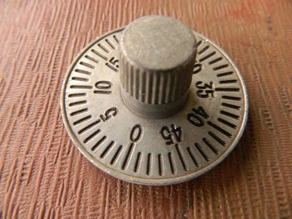 SALE Post Office Box Numbered Dial Knob