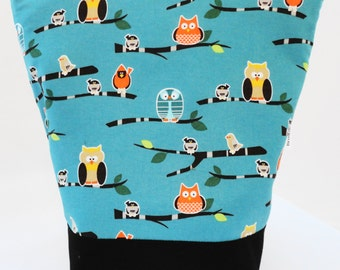 Insulated Lunch Bag by Nana Brown's - Owls on Green