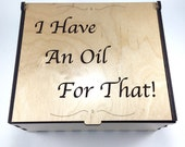 Large Essential Oil Box, I Have An Oil For That, Aromatherapy Storage Box, Essential Oil Case, Wood Oil Holder, Aromatherapy, Oil Organizer