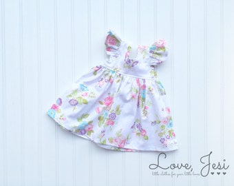 Newborn Baby Dresses, Baby Girls Dress, Toddler Girls Dress, Little Girls Dress, White Baby Dress, First Birthday Dress, First Easter Dress