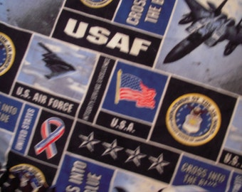 United States Air Force No-Sew Blanket