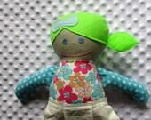 Skyla Medium Handmade Fabric Baby Doll