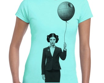 Happy Birthday Princess Leia - women's graphic tee, star wars funny shirt, print t-shirt, gift for her, geek top, women tshirt, junior tee