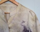 SOLD OUT - eco dyed cotton shirt altered couture